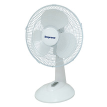 Impress 12 Inch 3 Speed Oscillating Table Fan- White - $49.26
