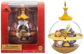 Disney Sketchbook Ornament Lumiere and Cogsworth,  Beauty and The Beast... - $55.00