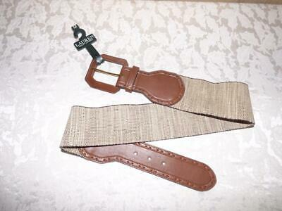 $48.00 Lauren Ralph Lauren Wide Stretch Belt-Natural/ Tan