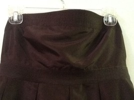 J.Crew Women's 6 100% Silk Brown Strapless Dress Lined image 2