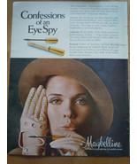 Vintage Maybelline confessions of an Eye Spy Print Magazine Advertisemen... - $4.99