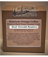 Decaf. Chocolate Raspberry flavored Dessert Coffee 10 Medium Bold Roast ... - $10.41