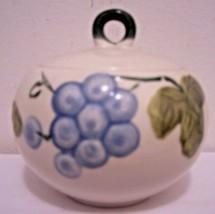 Fresno Sugar Bowl Japan White S-152 Grapes Leaves Ceramic  Dinnerware  - $18.80