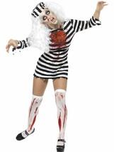 Zombie Sträfling Kleid, Halloween Zombie Gasse Kostüm, UK Größe 16-18 - $42.00