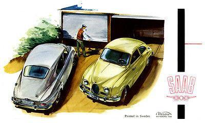 Primary image for 1958 Saab - Promotional Advertising Poster