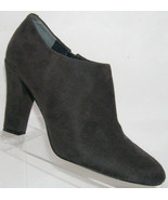 Ivanka Trump gray suede pointed toe side zip ankle bootie heel 10M - $44.27