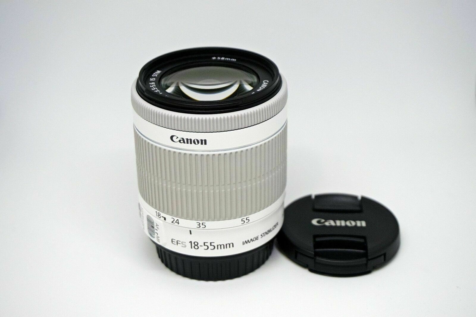 Canon EF-S 18-55mm F/3.5-5.6 IS STM For Canon 650D 700D 100D White NEW - Bulk