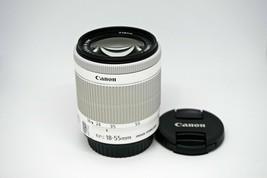 Canon EF-S 18-55mm F/3.5-5.6 IS STM For Canon 650D 700D 100D White NEW - Bulk image 1