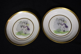 *PAIR* Early 19th Century Miles Mason Plates With Handcolored Cherubs - $195.00