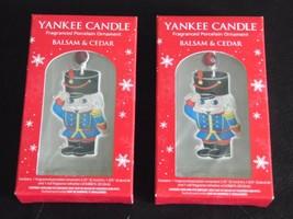 Yankee Candle 2009 Fragranced (2) Porcelain Soldier Ornament Balsam & Ce... - $19.11