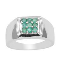 Exclusive !! Emerald Stone 925 Sterling Silver Ring Shine Jewelry SHRI3557 - €62,64 EUR
