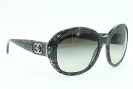 CHANEL CH 5235-Q C.1208/3C GREY STRIPES GRADIENT AUTHENTIC SUNGLASSES  5... - $147.26