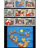 ANGUILLA DISNEY 453-62 1981 CHRISTMAS SET OF 9 PLUS S/S - $12.00