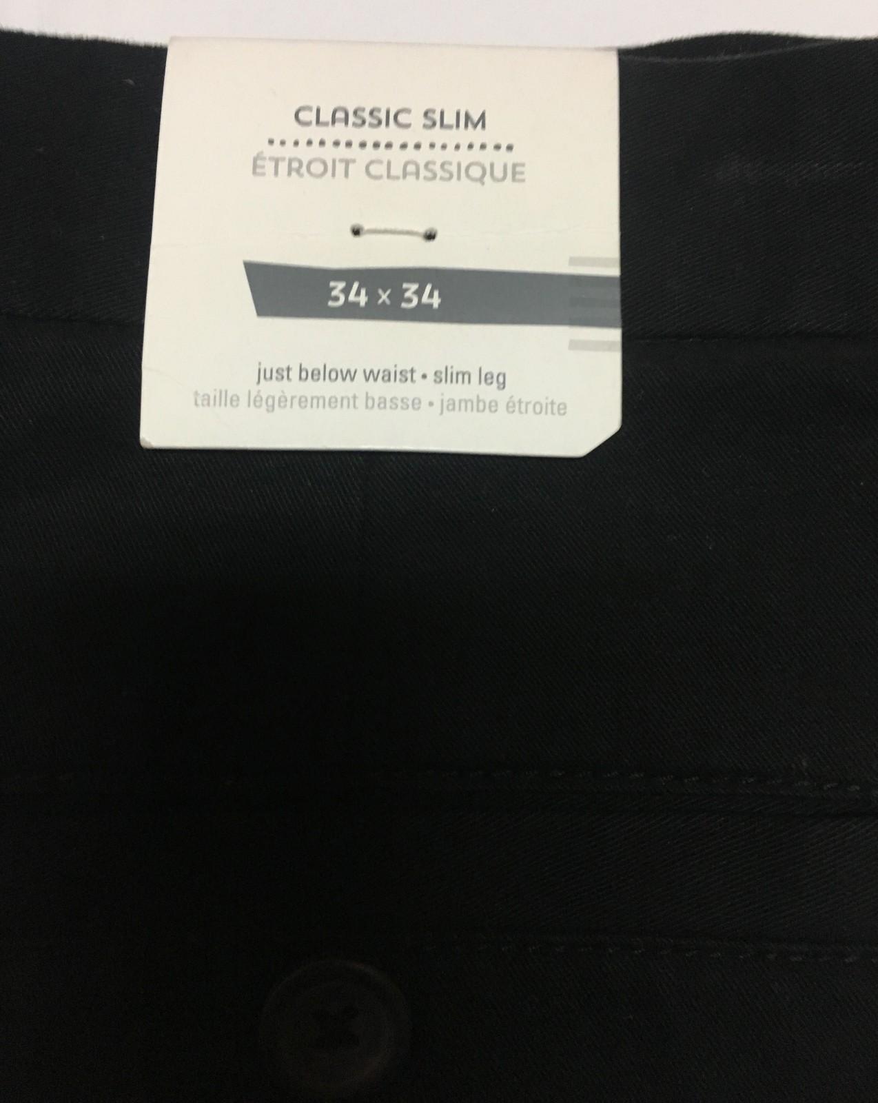 Men's Old Navy Black Classic Slim Pants 34 x 34 NWT