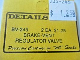 Details West # BV-245 Brake Vent Regulator Valve 2 Each  HO-Scale image 2