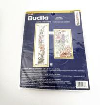Bucilla Floral Counted Cross Stitch Kit Wallhanging Long Butterflies Bird Sealed - $39.95