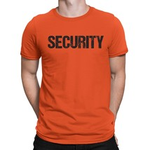 NYC FACTORY Security Tee Orange T-Shirt Mens Tee Staff Event Crew Shirt ... - $11.98+
