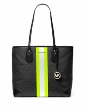 MICHAEL Michael Kors Eva Large Tote - Black/Neon Yellow - $178.00