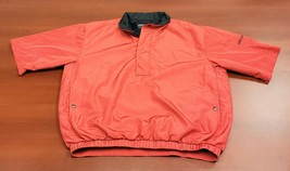 Footjoy Dryjoys Red Short Sleeve 1/2 Zip Golf Jacket Men Large - $35.75