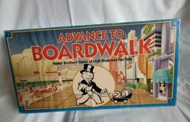 Vintage Advance To Boardwalk Board Game Parker Brothers Monopoly Complete - £18.83 GBP