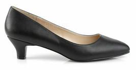 "Womens Pleaser FAB420/BPU 2"" Heel Classic Pump - Black Size 13 - $69.99"