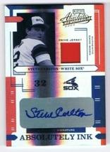 Steve Carlton White Sox 2004 Absolute Memorabilia Ink Spectrum Jersey Auto 4/5 - $59.95