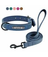 PetArtist® Custom Dog Collars Leather Personalized Pet Dog Tag Collar Leash - $14.68+
