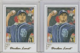 2017 Topps Gallery Baseball #91 Dinelson Lamet RC San Diego Padres Lot of 2 - $1.14