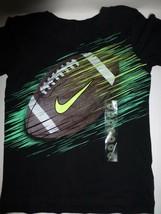 Nike Boys Black Football Graphic Short Sleeve T Shirt 86B885 New Size 4 - $11.87
