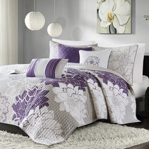 Madison Park Lola Quilt Bedding Size King/Cal King, 6 Piece Set - New / ... - $2.075,12 MXN