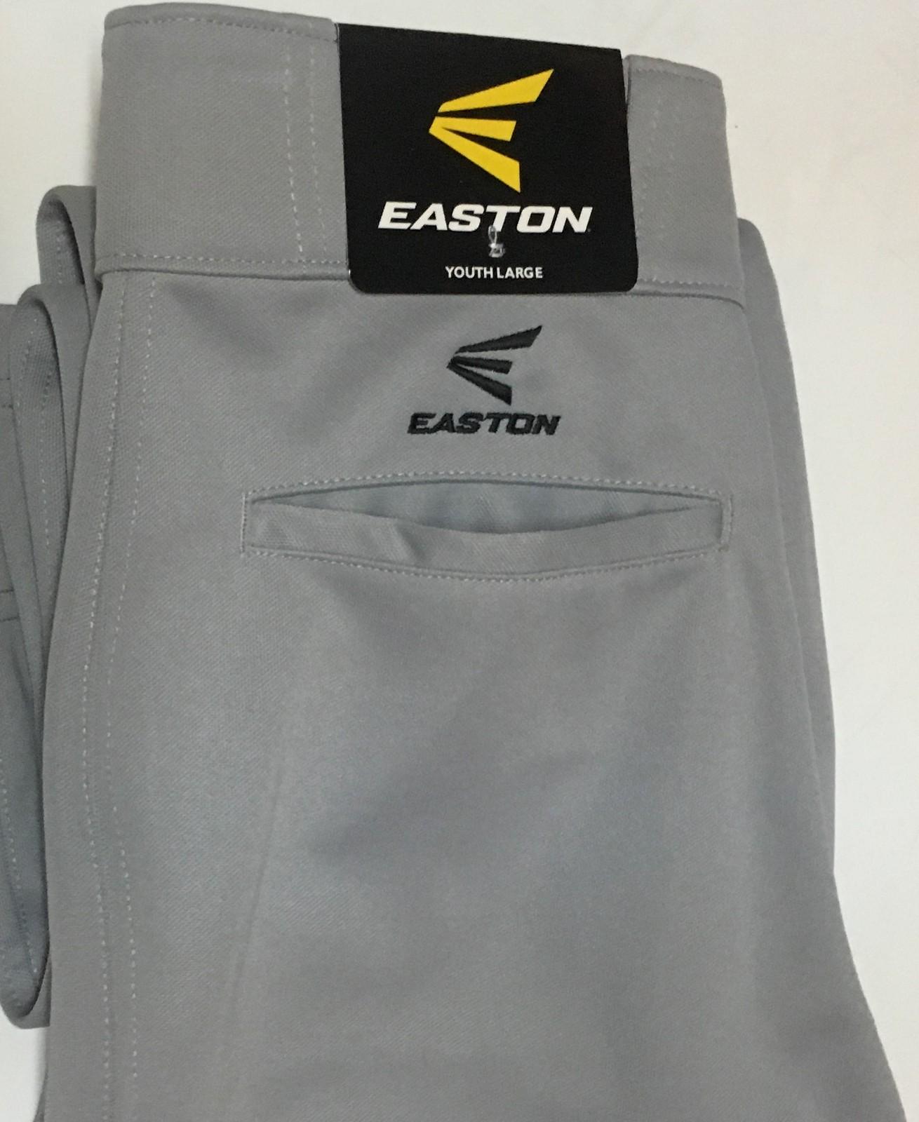 Easton Gray Baseball Pants NWT Sz Youth L Boy's