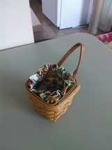 Longaberger Small Chives Booking Basket w/Liner - 1996 - $8.27