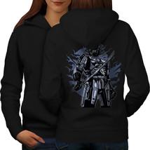 Black Warrior Fashion Sweatshirt Hoody  Women Hoodie Back - $21.99+