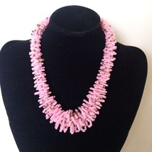 jPink African necklace, Beaded necklace, Boho Necklace, African Necklace... - $12.00
