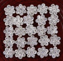 10pcs Acrylic flower Rhinestone buttons,DIY hair decoration Buttons,flatbacks - $15.40