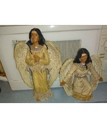 Indian angels size 14 inch and 8 inch 2 of them hand painted and signed ... - $16.95