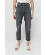 NWT $98 Levis Jeans Wedgie Straight Mom Jean in Black TAG SIZE 32 x 26  - $60.19