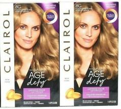 2 Boxes Clairol Age Defy 8G Medium Golden Blonde Luminous Permanent Hair... - $24.99