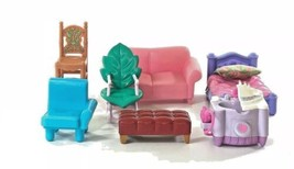 Fisher Price Dollhouse Furniture Toy Mini Bed Rocking Chair Sofa Sink Be... - $19.79