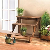 Three Tiered Wooded Plant Stand or Charming Display Shelf Stand - $58.36