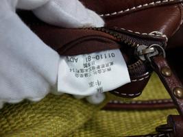 Auth BURBERRY LONDON BLUE LABEL Hemp, Leather Chain Shoulder Bag BS0437 - $149.00