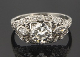 Women's 14kt White Gold Solitaire ring - $7,499.00
