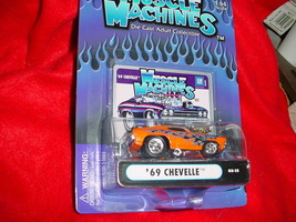 Muscle Machines '69 Chevelle Orange Flamed 03-15 Mip Free Usa Shipping - $11.29
