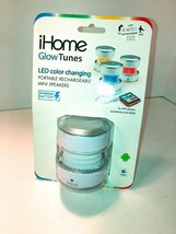 NEW! iHome Glow Tunes USB Rechargeable Color Changing Stereo Mini Speaker - $13.09 CAD