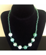 Green Dragon Veins Agate and Aventurine Necklace - New - $17.82