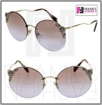 Miu Miu Maniere 52T Pale Gold Crystal Pearl Lilac Gradient Sunglasses MU52TS - $246.51