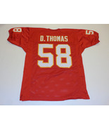DERRICK THOMAS unsigned red pro style jersey adult mens XL - $32.44