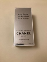 Rarest Vintage Chanel Egoiste Platinum 3.4oz/ 100ml Spray Sealed - $266.31