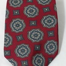 Wembley Tie Men Necktie Classic Burgundy Red Geometric 57 inch 3.5 inch image 2