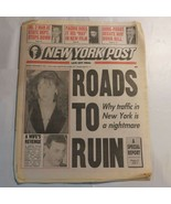 New York Post November 9 1993 Pacino Lorena Bobbitt Traffic in New York N2 - $39.99